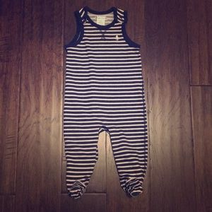 Ralph Lauren Navy and White Striped Overalls